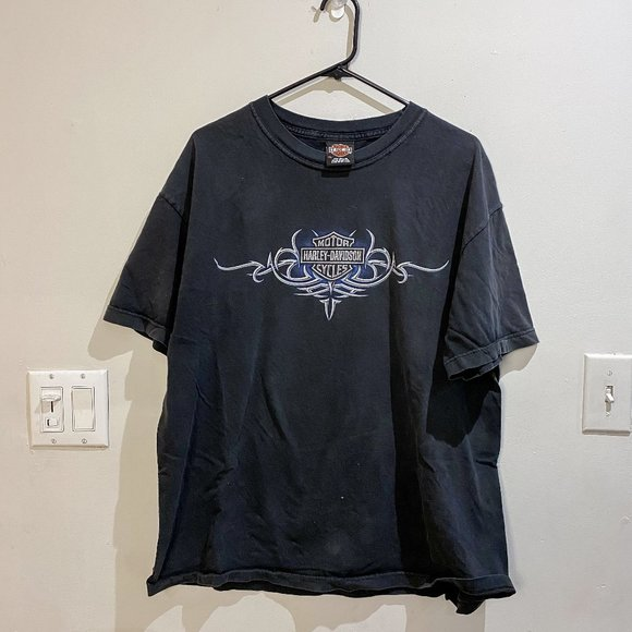 Vintage Harley Davidson - Double Sided Tee